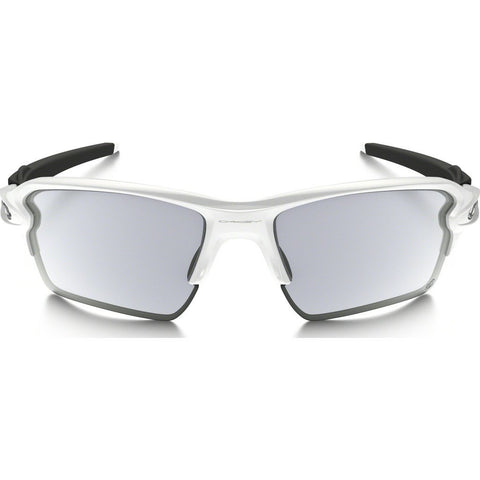 Oakley Sport Flak 2.0 XL Polished White Sunglasses | Clear/Black Photo OO9188-51