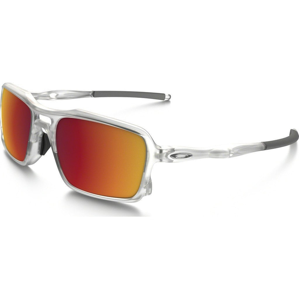 Oakley Active Triggerman Matte Clear Sunglasses | Torch Iridium OO9266-07