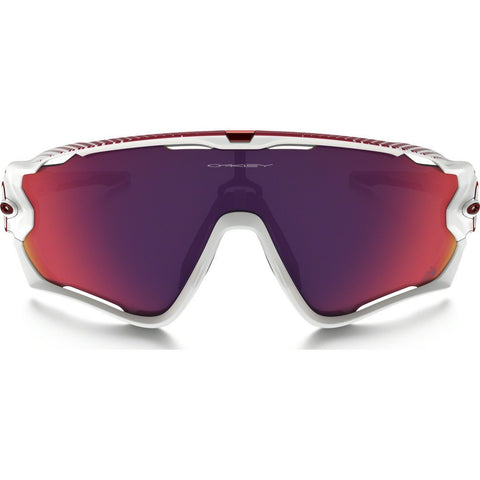 Oakley Sport Jawbreaker Polished White Sunglasses | Prizm Road TdeF OO9290-18