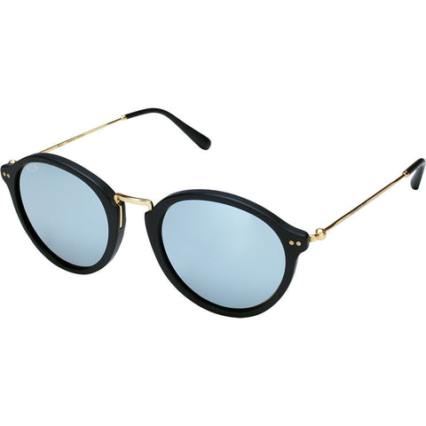 Kapten & Son Maui Blue Mirror Sunglasseses | Matte Black