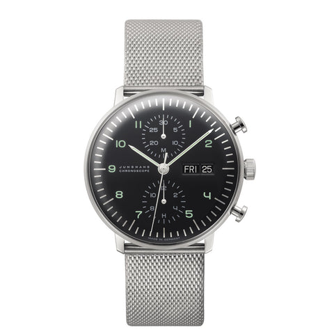 Junghans Max Bill Chronoscope Automatic Watch | Black Dial 027/4500.45
