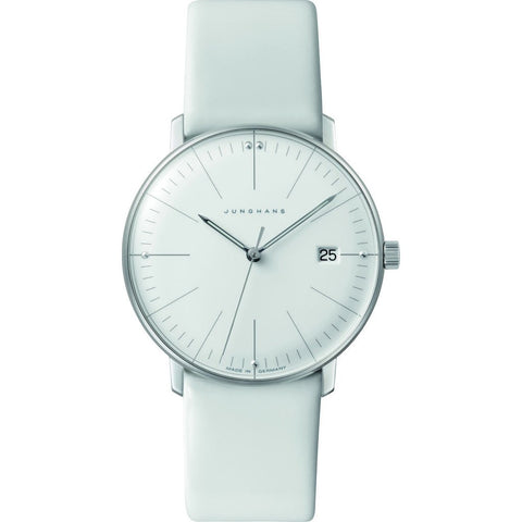 Junghans Max Bill Ladies Date Watch | White CalfskinÊ047/4355.00