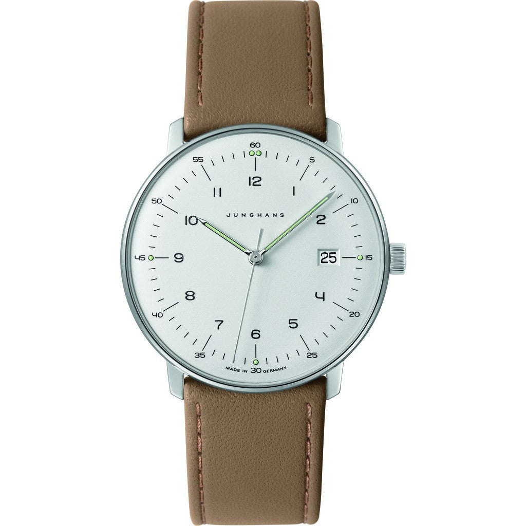 Junghans Max Bill Quartz Date Watch | Brown CalfskinÊ041/4562.00