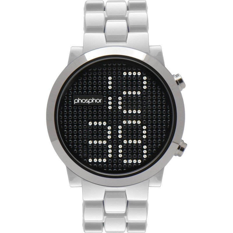 Phosphor Appear White Bracelets Silver Case | MD013G