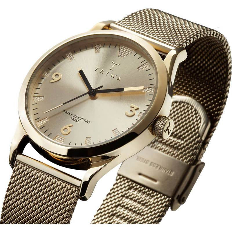 Triwa Sort of Black Gold Watch | Gold Mesh LAST114.ME021313