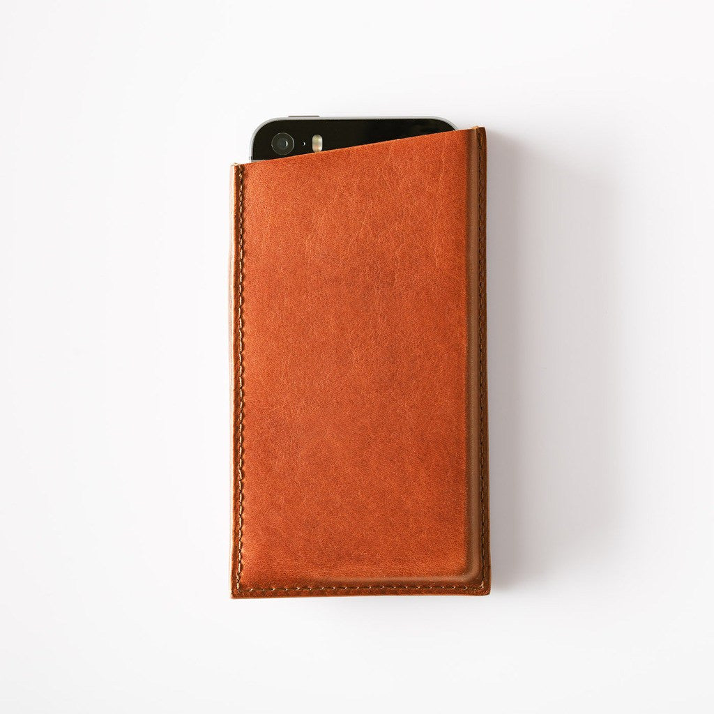 Octovo Leather iPhone 5/5s Case | Chestnut