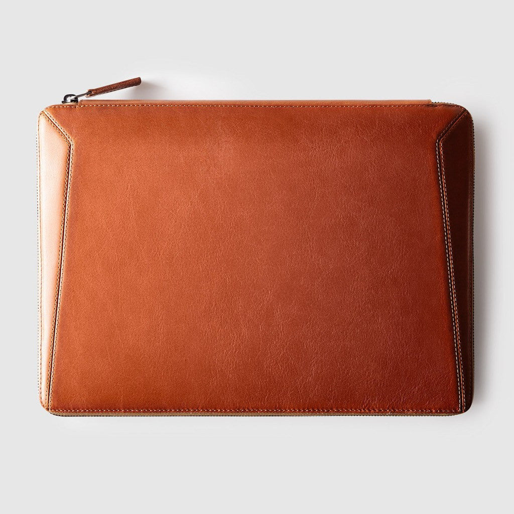 "Octovo Macbook Leather Folio Case | Chestnut 13"" W01-014-CHU"