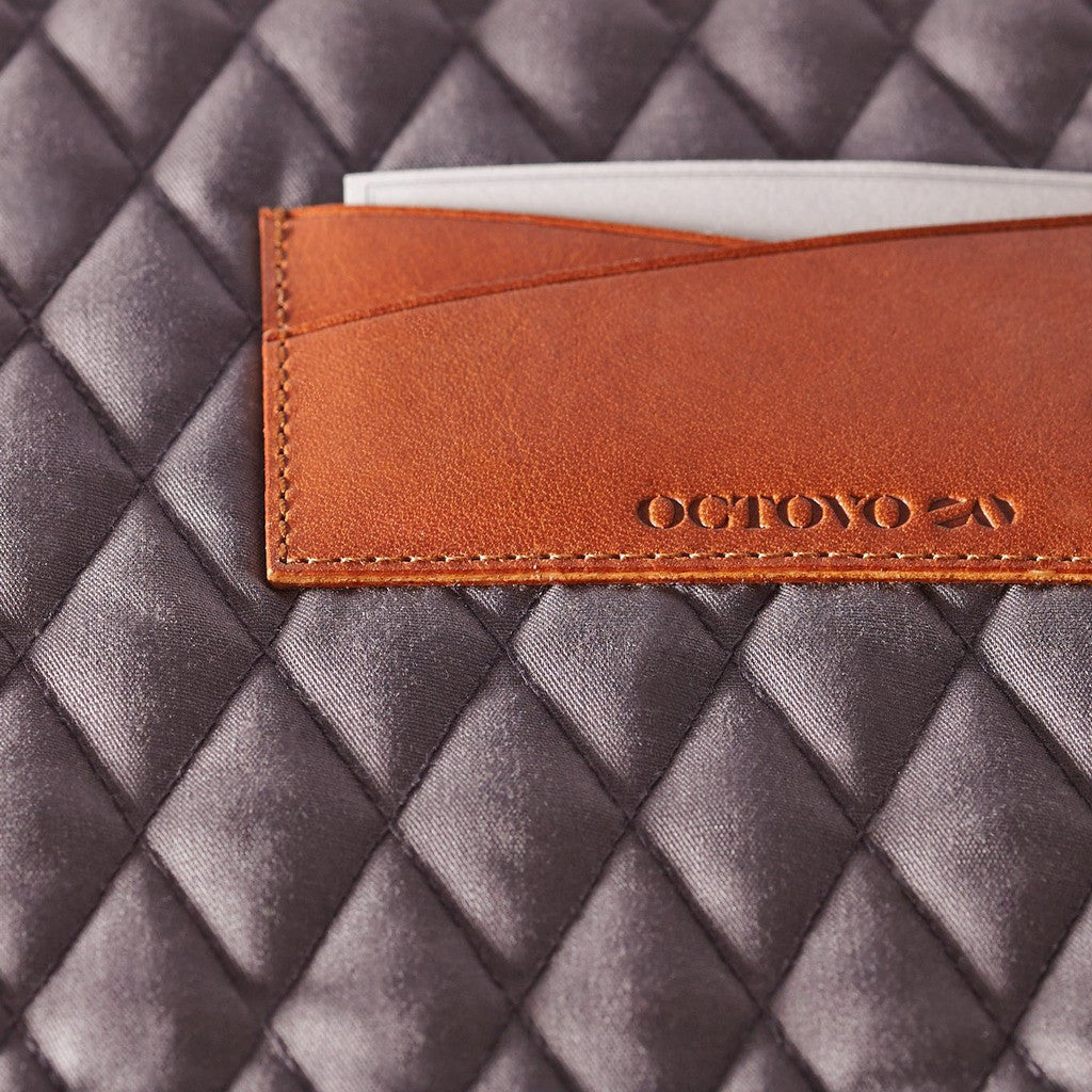 "Octovo Macbook Leather Folio Case | Chestnut 15"" W01-015-CHU"