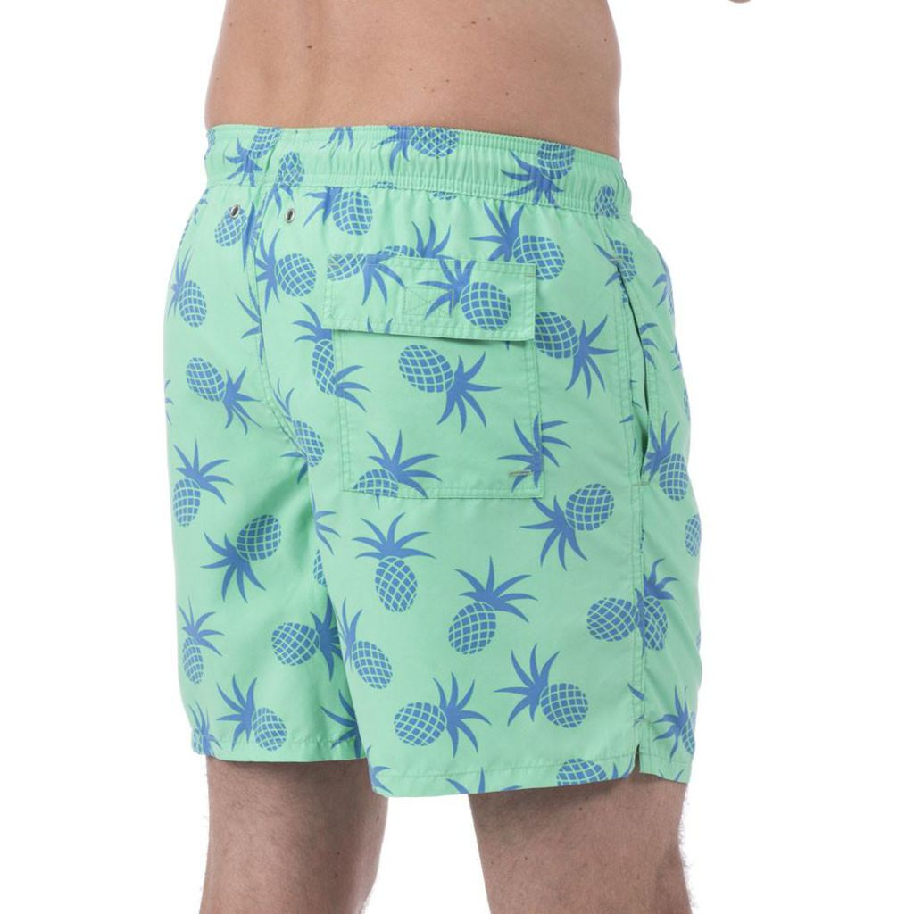 Tom & Teddy Pineapple Swim Trunk | Jade Green / S