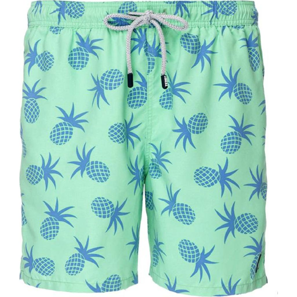 Tom & Teddy Pineapple Swim Trunk | Jade Green / M