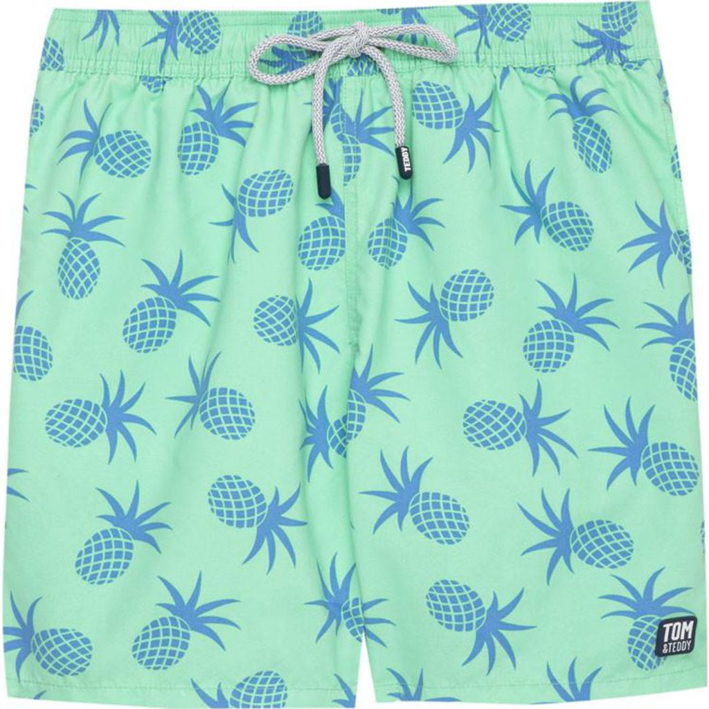 Tom & Teddy Pineapple Swim Trunk | Jade Green / L