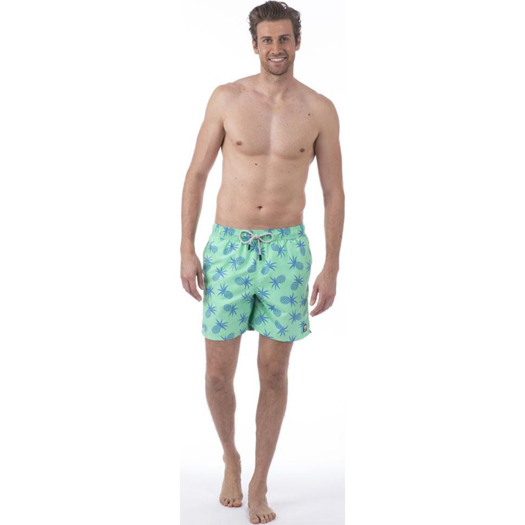 Tom & Teddy Pineapple Swim Trunk | Jade Green / XL