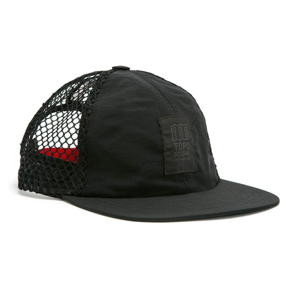 Topo Designs Nylon Mesh Back Hat | Black
