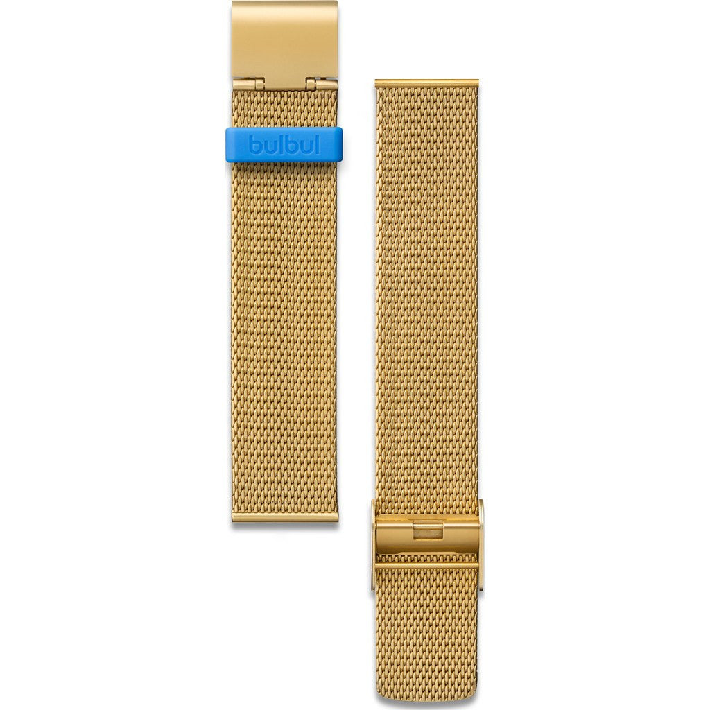 bulbul Pebble / Ore 08 Strap | German Milanese Gold Steel Mesh