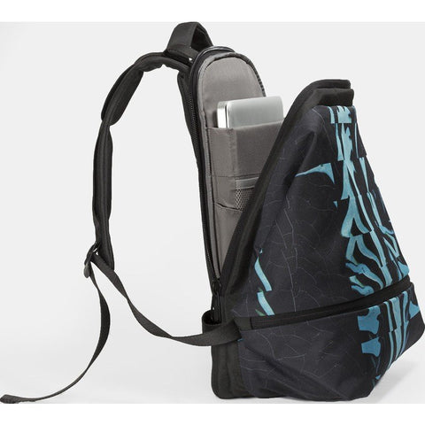 Cote et Ciel Meuse Ripple Eco Yarn Backpack | Midnight Black/Rich Jade
