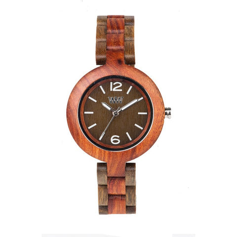 WeWood Mimosa Rosewood/Verawood Wood Watch | Brown/Army