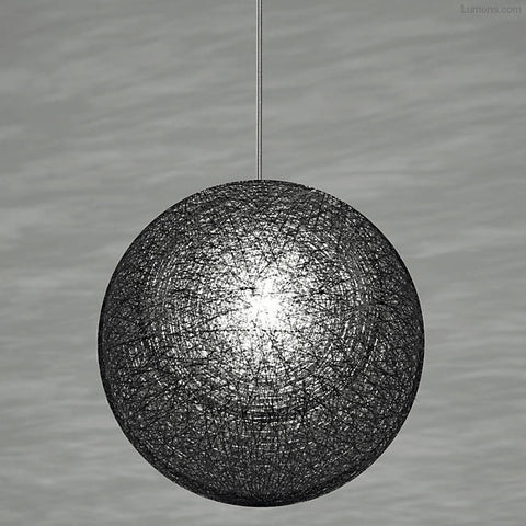 Yamagiwa Mayuhana 2 Global Pendant | Mini Black Aluminum YL-P2911B