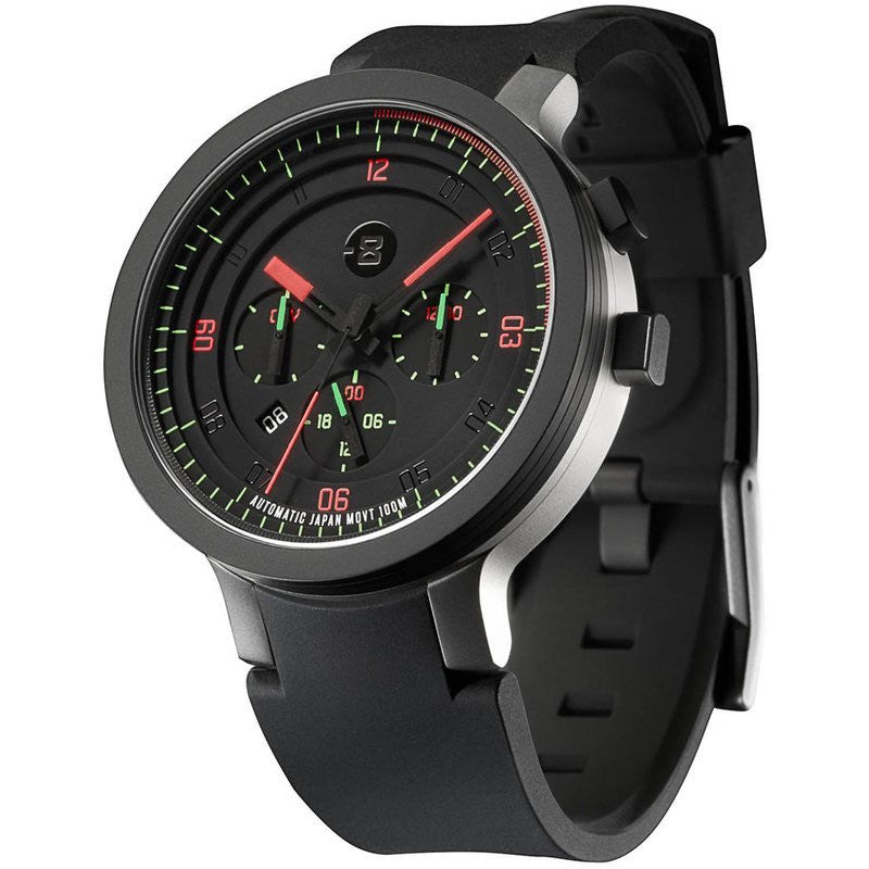 Minus-8 Layer 24 Black/Bright Automatic Watch | Silicone
