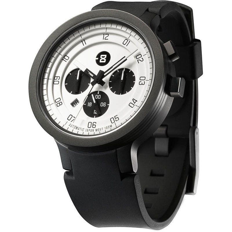 Minus-8 Layer 24 Black/White Automatic Watch | Silicone