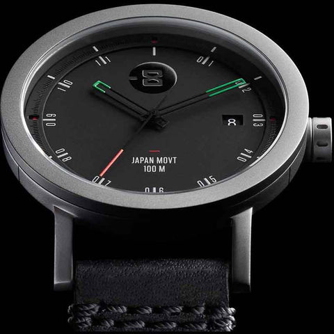 Minus-8 Zone 2 Black/Bright Watch | Leather