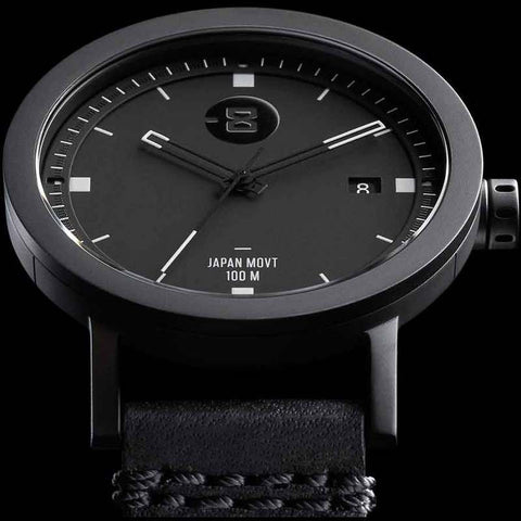 Minus-8 Zone 2 Black/Black Watch | Leather