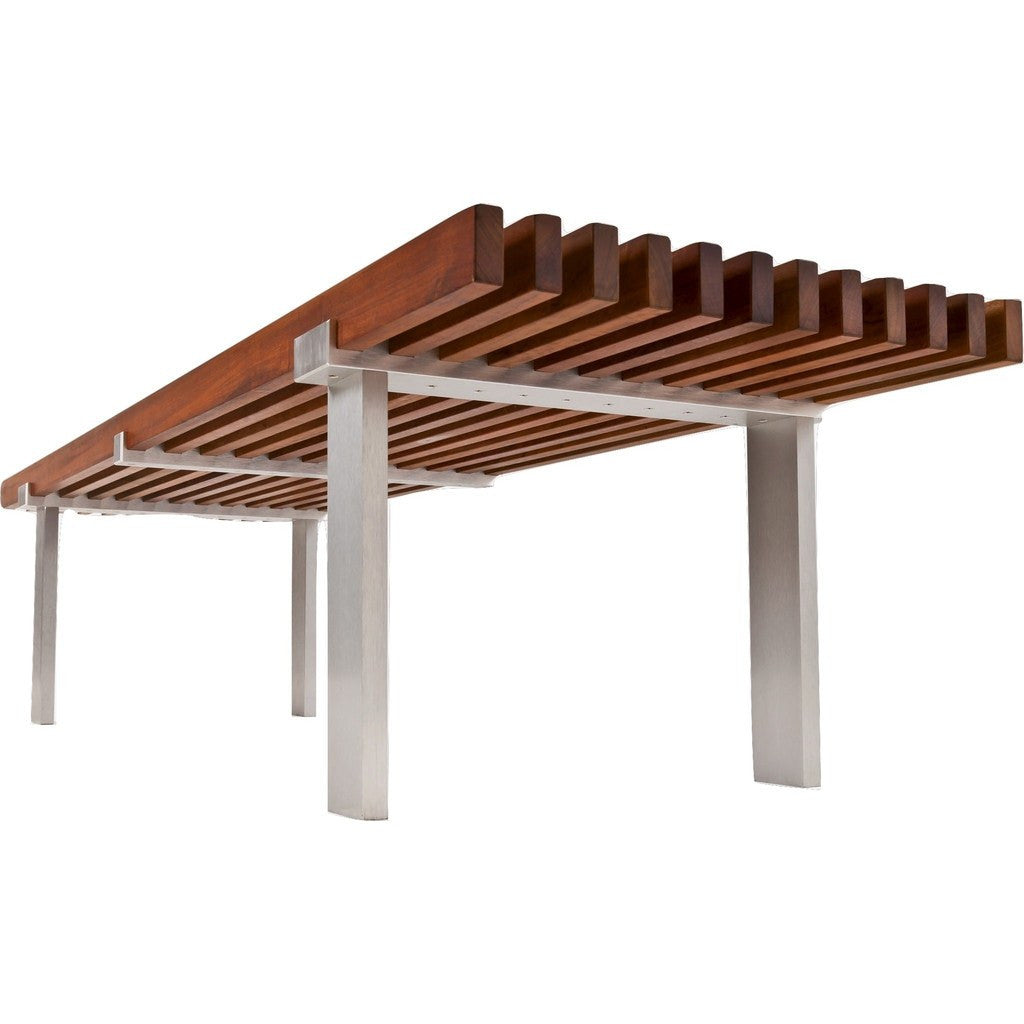 Modernica Case Study Museum Bench 5Ft Chair | Brazilian Walnut /Metal