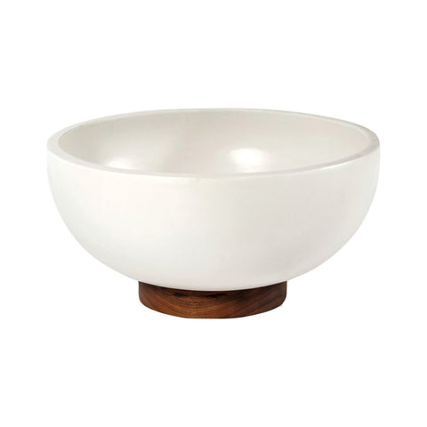 Modernica Case Study Large Bowl with Plinth | White CER-W-BWL-22-9-BWP-WHT