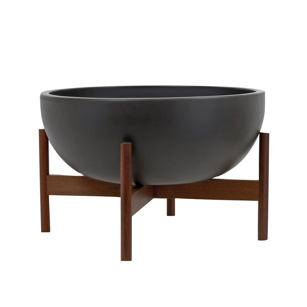 Modernica Ceramic Large Bowl Planter | Charcoal