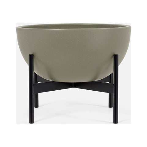 Modernica Case Study Medium Bowl with Metal Stand | Pebble CER-W-BWL-16-17-MET-PEB