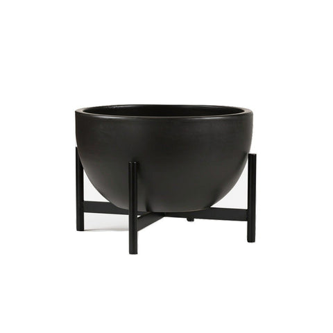 Modernica Ceramic Small Bowl Planter | Charcoal