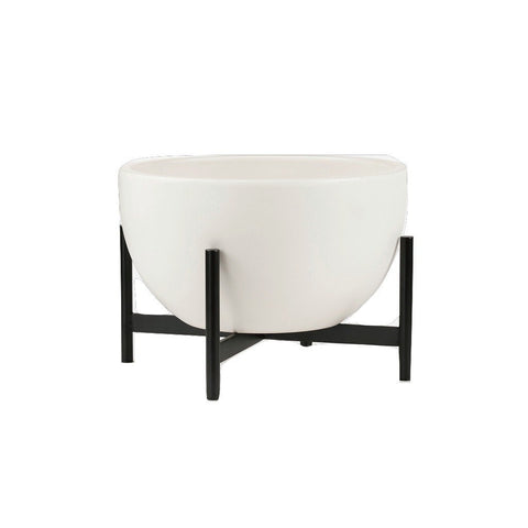 Modernica Ceramic Small Bowl Planter | White