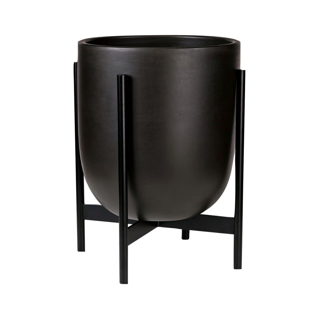 Modernica Case Study Small Bullet with Metal Stand | Charcoal CER-W-BUL-12-13-MET-CHR