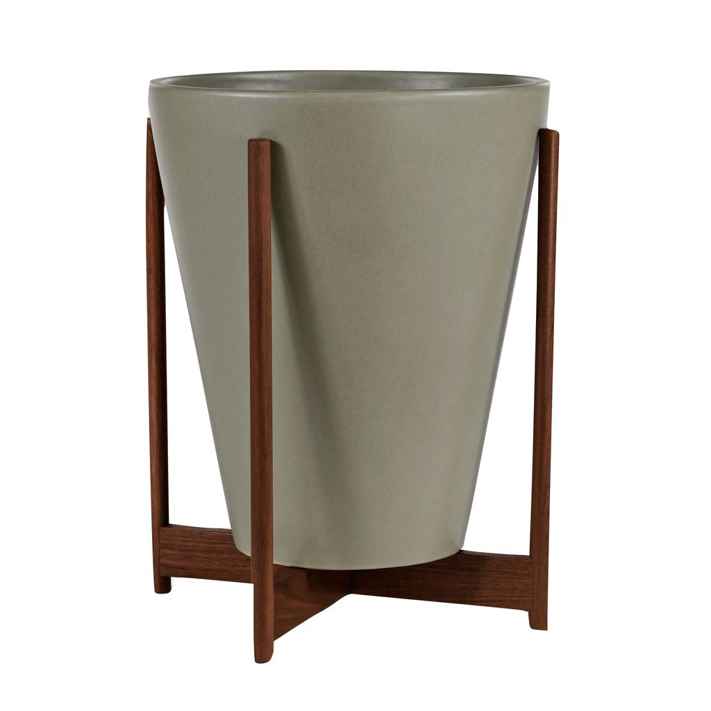 Modernica Ceramic Large Funnel Planter | Pebble