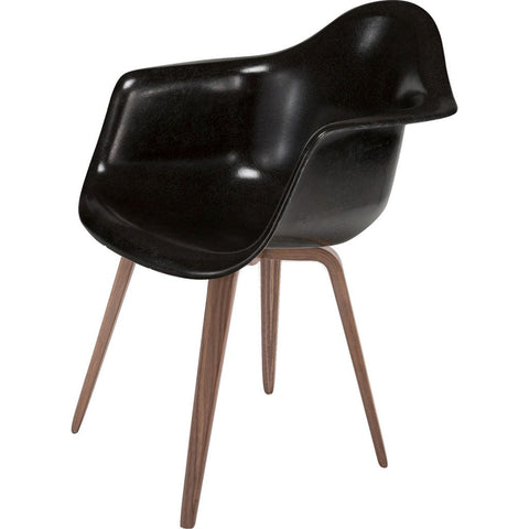 Modernica Case Study Spyder Base Arm Shell Chair | Walnut/Black FIB-W-SPA-WAL-WAL
