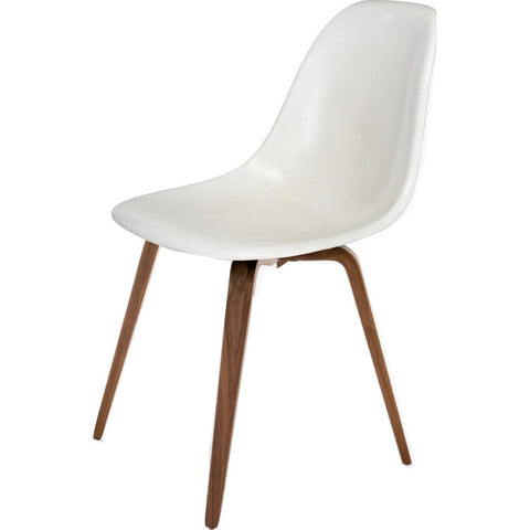 Modernica Case Study Spyder Base Side Shell Chair | Walnut/White FIB-W-SPA-WAL-WAL