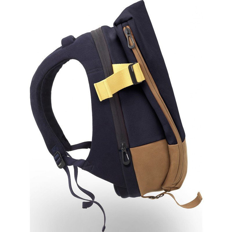 Cote et Ciel Isar Twin Touch Contrast Canvas Laptop Backpack | Deep Altantic Blue