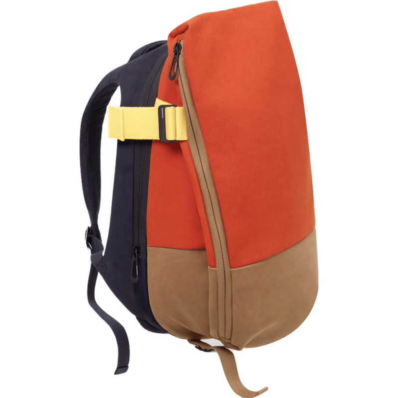 Cote et Ciel Isar Twin Touch Canvas Backpack | Atlantic Blue/Orange