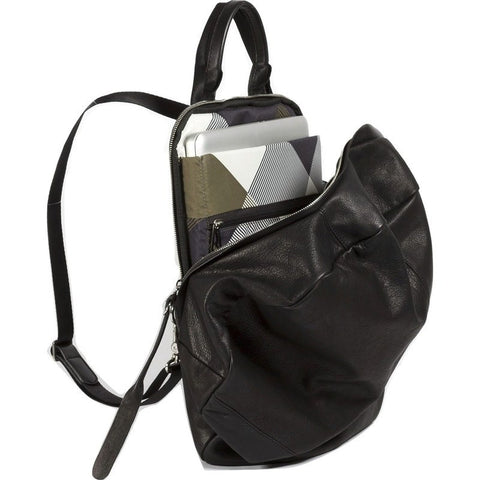 Cote&Ciel Moselle Alias Cowhide Leather Backpack | Agate Black 28372