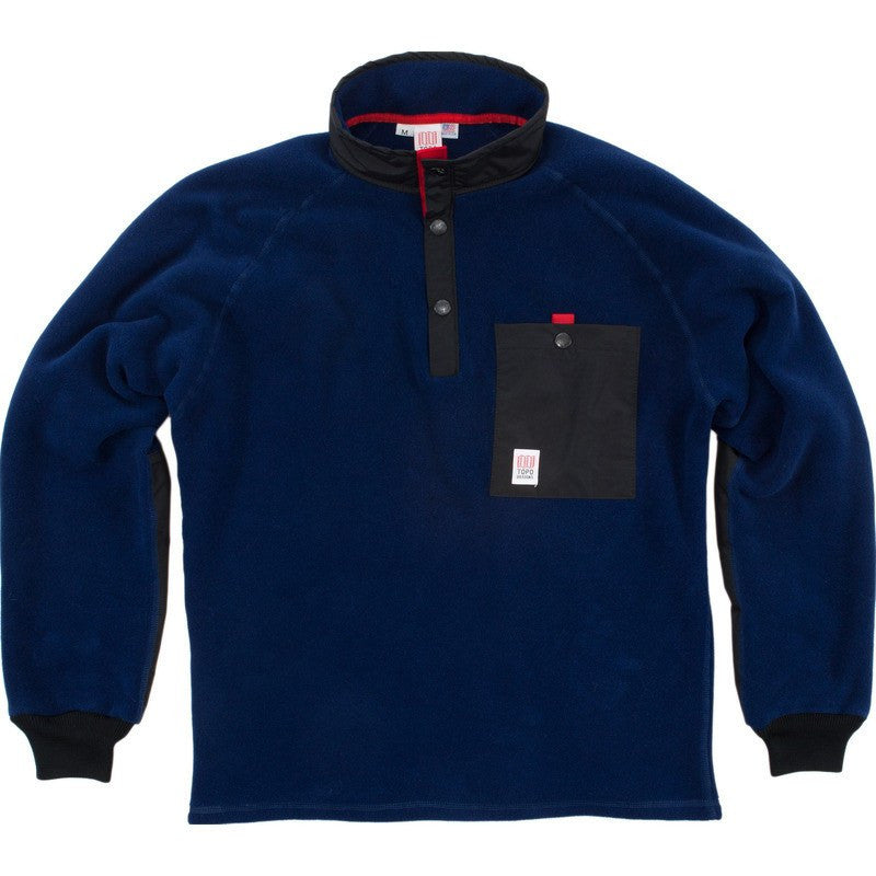 Topo Designs Fleece Jacket | Navy/Black