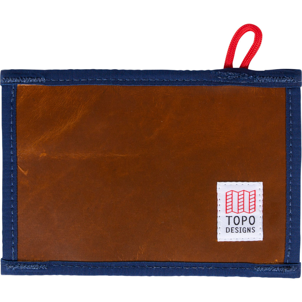 Topo Designs Leather Wallet | Brown