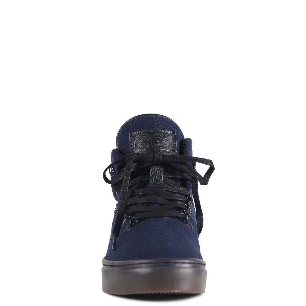 Clear Weather One-Ten Mid Top Shoes | Navy Wool CRW-110-NVY
