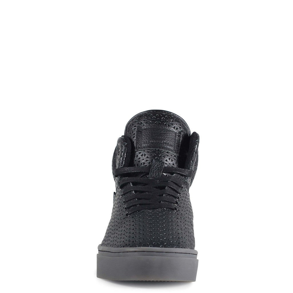 Clear Weather One-Ten Mid Top Shoes | Black Perf Leather CRW-110-BLKP