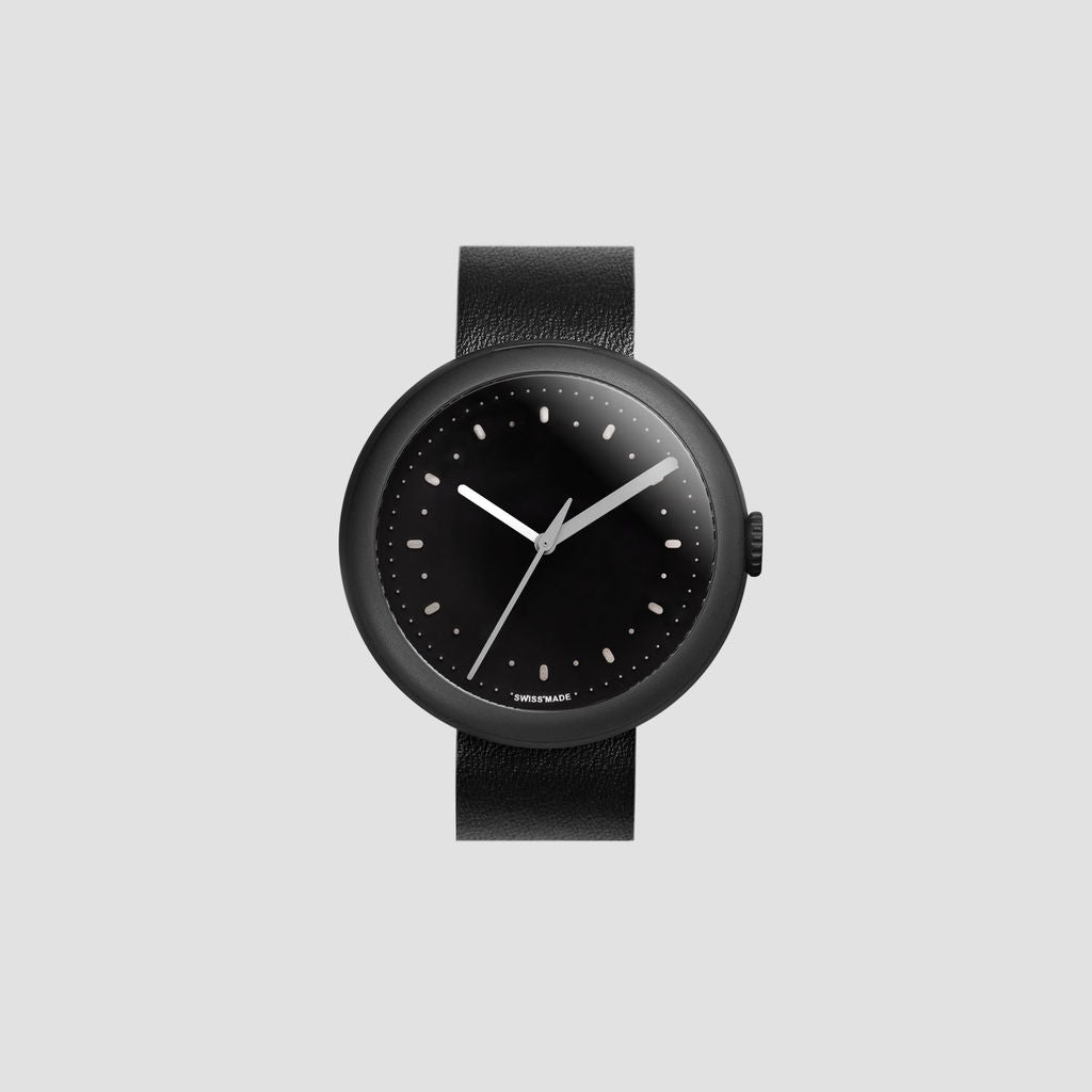 Objest Simple Charcoal Watch | Black CHABLAS106