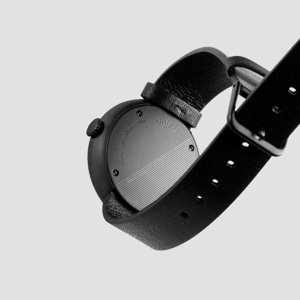 Objest Simple Charcoal Watch | Black CHABLAS108