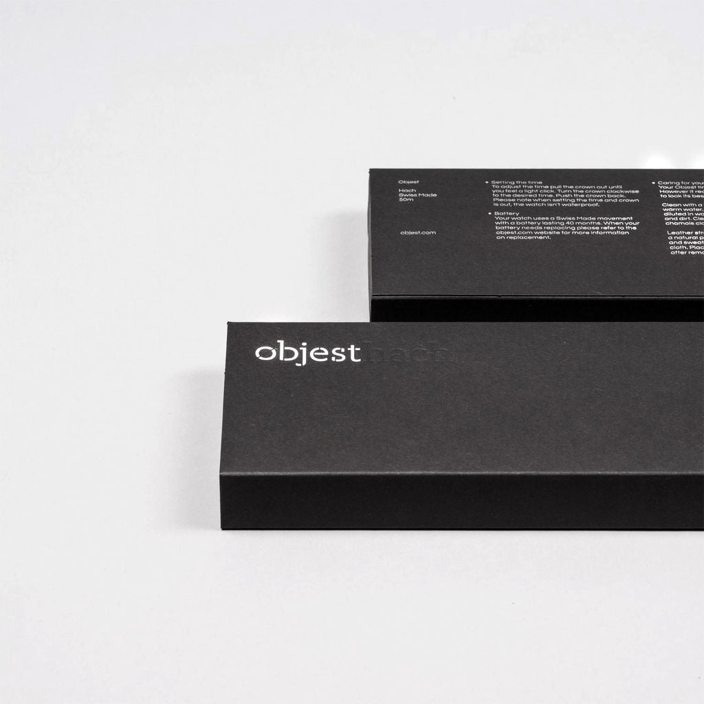 Objest Simple Charcoal Watch | Black CHABLAS109