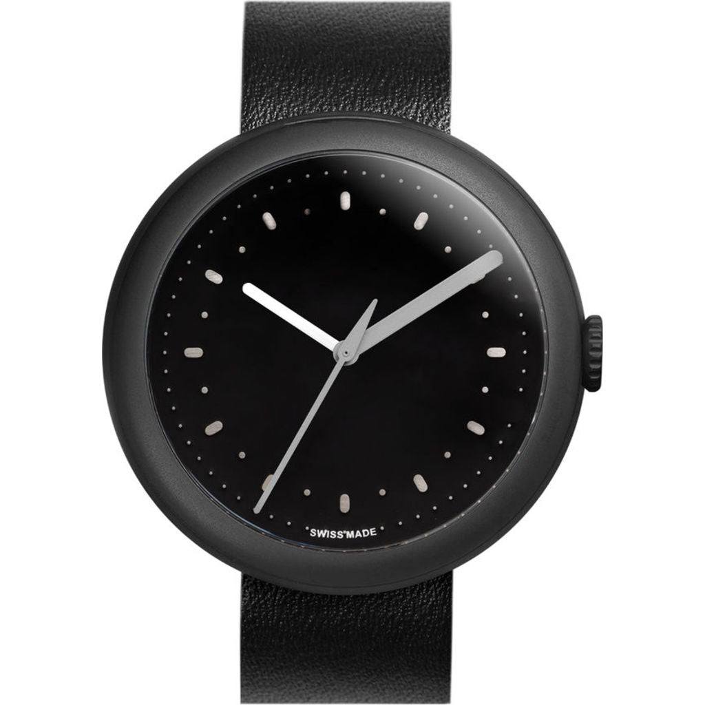 Objest Simple Charcoal Watch | Black CHABLAS110