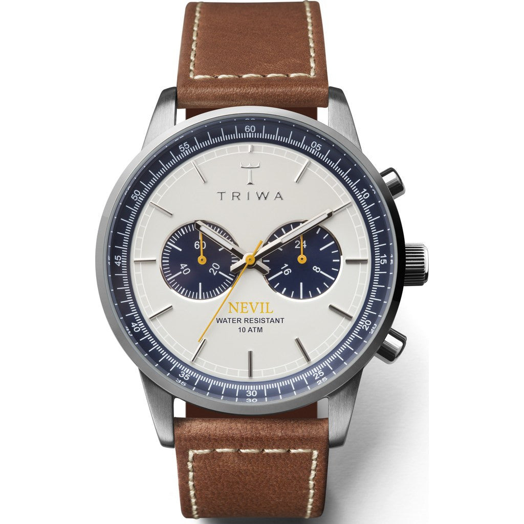 Triwa Ocean Nevil Watch | Brown Sewn Classic 2 NEST113-SC010212