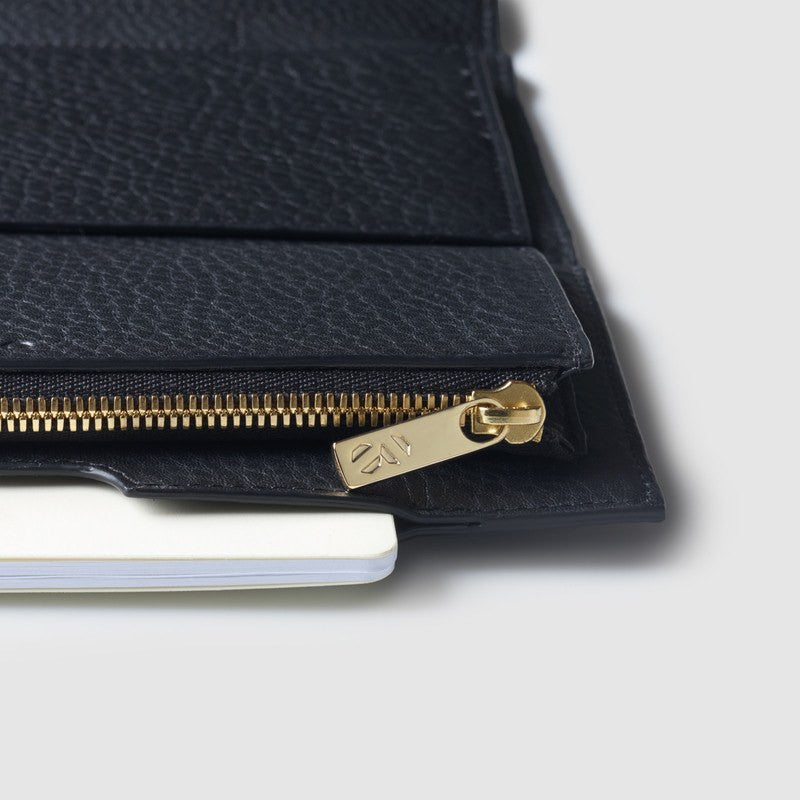 Octovo Cheque Leather Wallet | Black