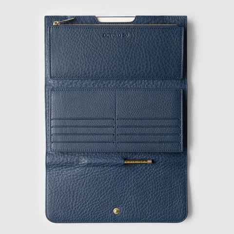 Octovo Cheque Leather Wallet | Blue