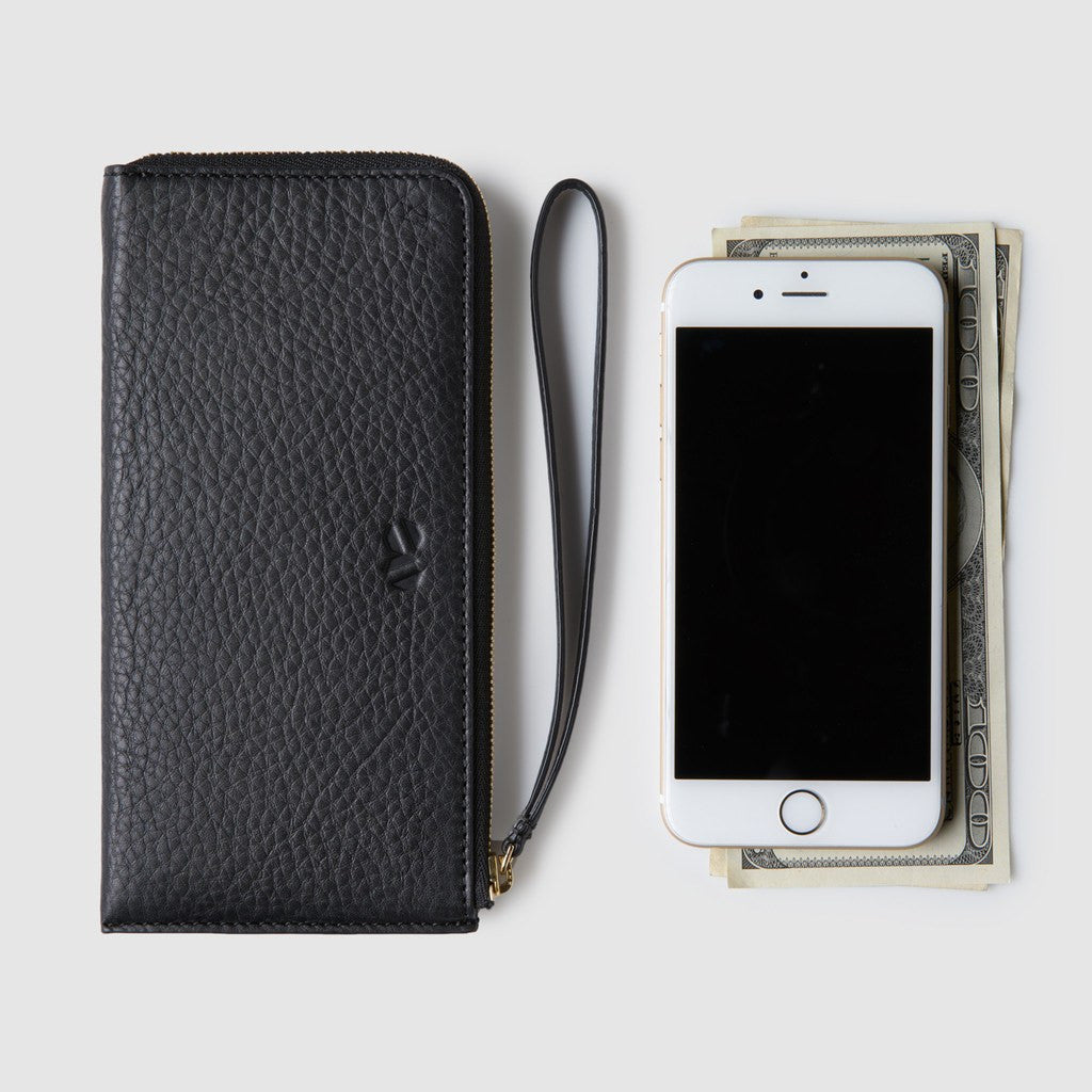 Octovo Phonebooth Leather Wallet | Black
